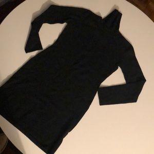 Pure cashmere turtleneck dress